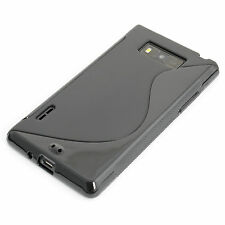 Silikon TPU Case Handy-Tasche Schutz-Hülle LG Optimus L7 P700 / P705 schwarz