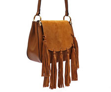 Bohemian Luxury Italian Genunine Leather Shoulder Bag Hudson Tassel Caramel
