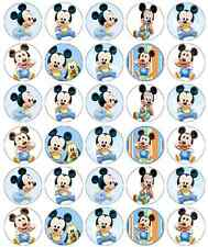 Mickey Mouse Baby Birthday Cupcake Toppers Edible Wafer Paper BUY 2 GET 3RD FREE