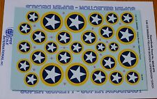 Microscale Decal 1:48 Scale #MS48-976 U.S.Insignia-Yellow Border/Operation Torch