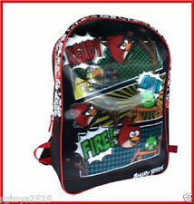 """Angry Birds  16"""" School Backpack  3D NWT"""