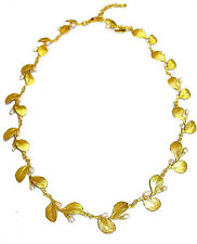 IRISH THORN GOLD LEAF & PEARL NECKLACE BY MICHAEL MICHAUD SILVER SEASONS 8125BZG