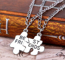 M GUS 2PC/Set Jewelry Gift Best Friend Love Cool Pendant Women Chain Necklace