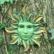 Solstice Greenman Garden Wall Plaque Outdoor Celtic Pagan Decorative 09043
