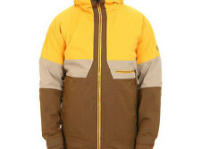 686 Authentic Smarty Network Snowboard Jacket (L) Sun Herringbone