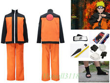 Uzumaki Naruto Cosplay Costume Immortal Mode Mens Ninja Outfit Props Shoes Set