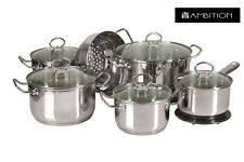 AMBITION Cookware Set 13 Pcs  Saucepan, Stewpots, Glass Lids Pots !!!