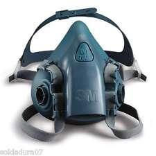 3M MASCARA Respiratoria de SILICONA 7502 sin filtros talla MEDIA ( M )serie 7500