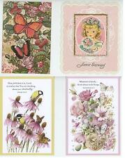 1 VINTAGE GIRL BIRTHDAY CARD ART PRINT 2 MARJOLIE BASTIN CARDS 1 BUTTERFLY CARD