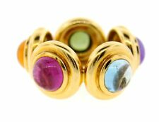 STUNNING Tiffany & Co. Paloma Picasso 18k Yellow Gold & Cabochon vGemstone Ring