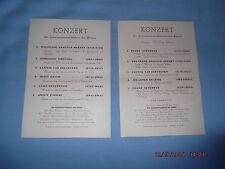 2 alte Konzert Programme Kammermusikkreis der Armee Deutsches Reich WW WK II 2