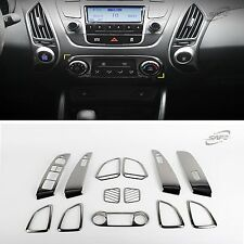 Black Chrome Interior Garnish Molding Fit 2010 - 2013 For Hyundai Tucson ix35