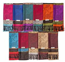 12 NEW Women Soft Silk Pashmina scarf  Cashmere Shawl Stole Wrap Wholesale LOT