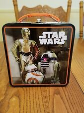 Star Wars, Metal, Tin, Lunch, Box, BB-8, C-3PO, R2-D2, Tote, Carrier, Toys, Kids