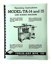 Tobin Arp Sunnen TA 14 & 15 Line Bore Manual