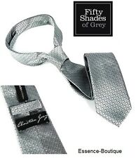 Fifty Shades of Grey Christian Grey Silver Tie OFFICIAL - Same day Dispatch -