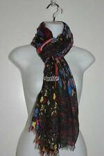 NWT BETSEY JOHNSON BOHEME SCARF BLACK MULTI COLOR RETAIL $60