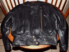 Vintage  PROTECH Black LEATHER Motorcycle Jacket Made in USA Womens XS