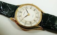 Lassale by Seiko Gold Tone Base Metal 1F20-1G60 Leather Sample Watch NON-WORKING