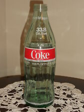 Vintage 1970's Glass COCA COLA COKE 1 Liter size Original Bottle