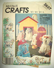 """The Shaggy Dog Sheep dog stuffed toy pattern 2627 in sizes  16"""" 13"""""""