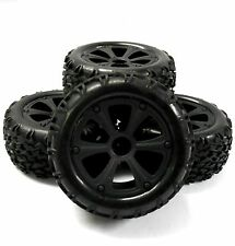 Bs214-009x4 1/10 Rc Nitro Monster Truck Off Road Ruedas y neumáticos x 4 Negro