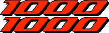 2 GSXR 1000 Decals Stickers Emblem Decal Street Bike Orange graphics Stickers