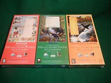 3 NEW SunsOut 500 pc jigsaw puzzles of 2014 calendars