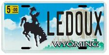 Chris Ledoux Wyoming Rodeo Cowboy Year 2000 License Plate