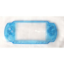 NEW Ghost Case Fat PSP-1001 PSP-1000 Faceplate Clear Blue