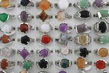 Wholesale Bulk Lot 50 Mixed Natural Stone Lady's Fashion Rings