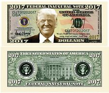 25 Donald Trump President Money Fake Dollar Bills 2017 Fed Inaugural Note Lot