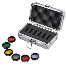 """1.25"""" Eyepiece Kit Colored Filter+Moon&Skyglow Filter for Astronomical Telescope"""
