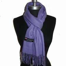 New Fashion100% Cashmere Scarf Solid Lavender Scotland Warm Wool Wrap #N103