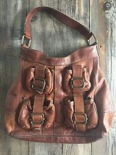 BANANA REPUBLIC Rare Ashbury Large Cognac Brown Leather Handbag Tote