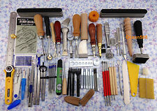60tools Leather Craft Hand Sewing Stitching Carving Work Tool Set Kit Punch Awl