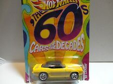 Hot Wheels Cars of the Decades Yelllow '69 Camaro