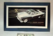 Orig vtg 1955 FORD Fairlane Crown Victoria Car Dealer Showroom SIGN Display 3D!
