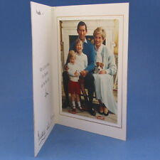 Hand Signed 1986 Princess Diana & Prince Charles Christmas Card