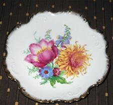 VINTAGE WESTMINSTER AUSTRALIA FINE CHINA DISH WITH GOLD GILT EDGES & FLOWERS /GC
