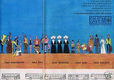 Publicité Advertising 026 1964 Saviem les cars protègent .. (2 pages)