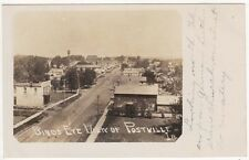 Real Photo Postcard of a Birds Eye View of Postville, Iowa~79426