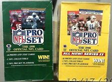 1990 Pro Set Football Factory Sealed Box Lot Series 1+2 Emmith Smith Rookie 10?