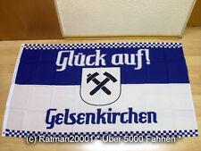 Fahnen Flagge Gelsenkirchen Glück auf - 90 x 150 cm