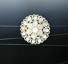 Victorian carved Mother of pearl flower  BROOCH