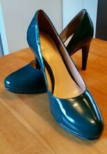 Cole Haan Nike Air teal green patent leather high heel stiletto dress shoes 6M