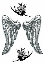 Angel Wings Temporary Fake Tattoos  Protection Love Lost Body Art Transfer
