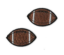 "Football - Sports - Coach - 1 5/8"" Embroidered Iron On Patches - Set Of 2"