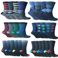 Men Socks Designer,Cotton Rich Lycra Poly Cotton 6 And 12 Pairs Socks Size 6-11