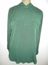 MINT $98 Juicy Couture Sloane Oversized Blouse Shirt Tunic Top Juniper Green S 6